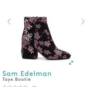 NWT Sam Edelman Taye pink floral brocade booties